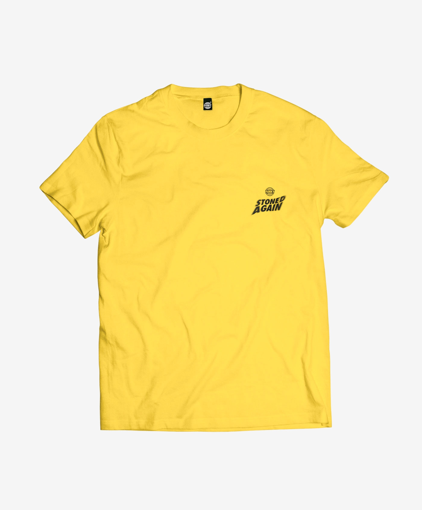 stoned-tee-front-yellow