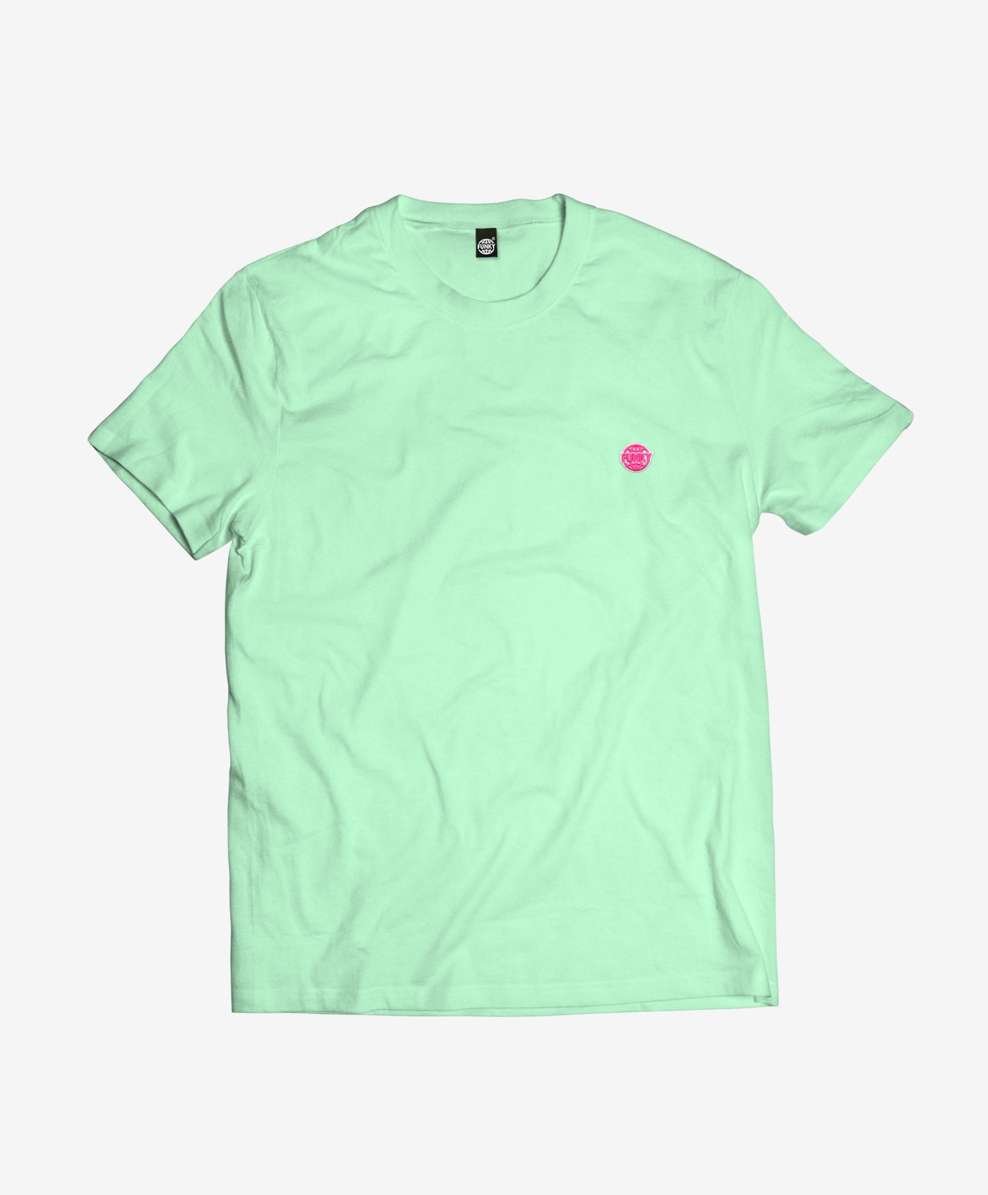 FUNKY-LOGO-TEE-MINT-FRONT