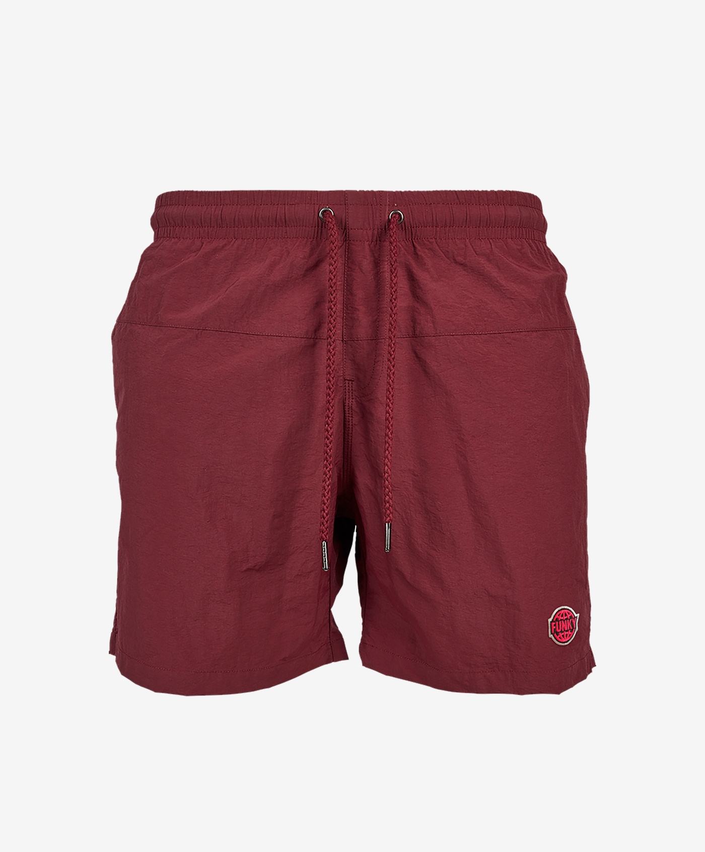funky-logo-shorts-burgundy-front copia