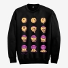 trippin crewneck black front