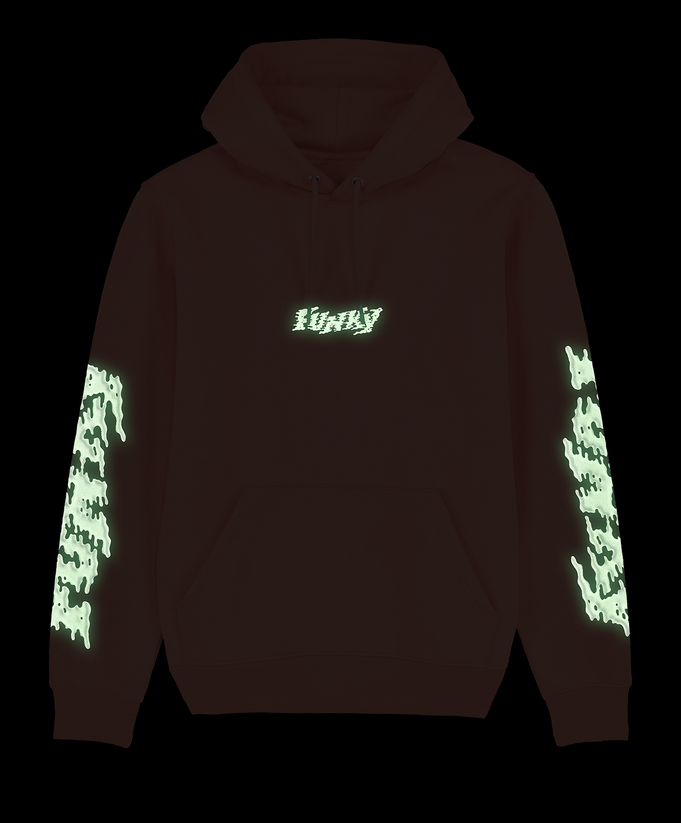 funky-lava-hoodie-sunset orange-front-glow