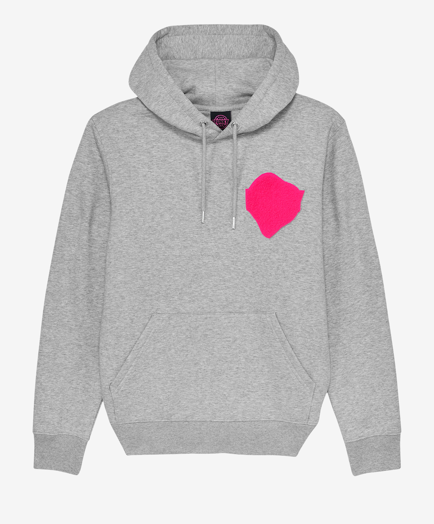 funky smile patch hoodie empty