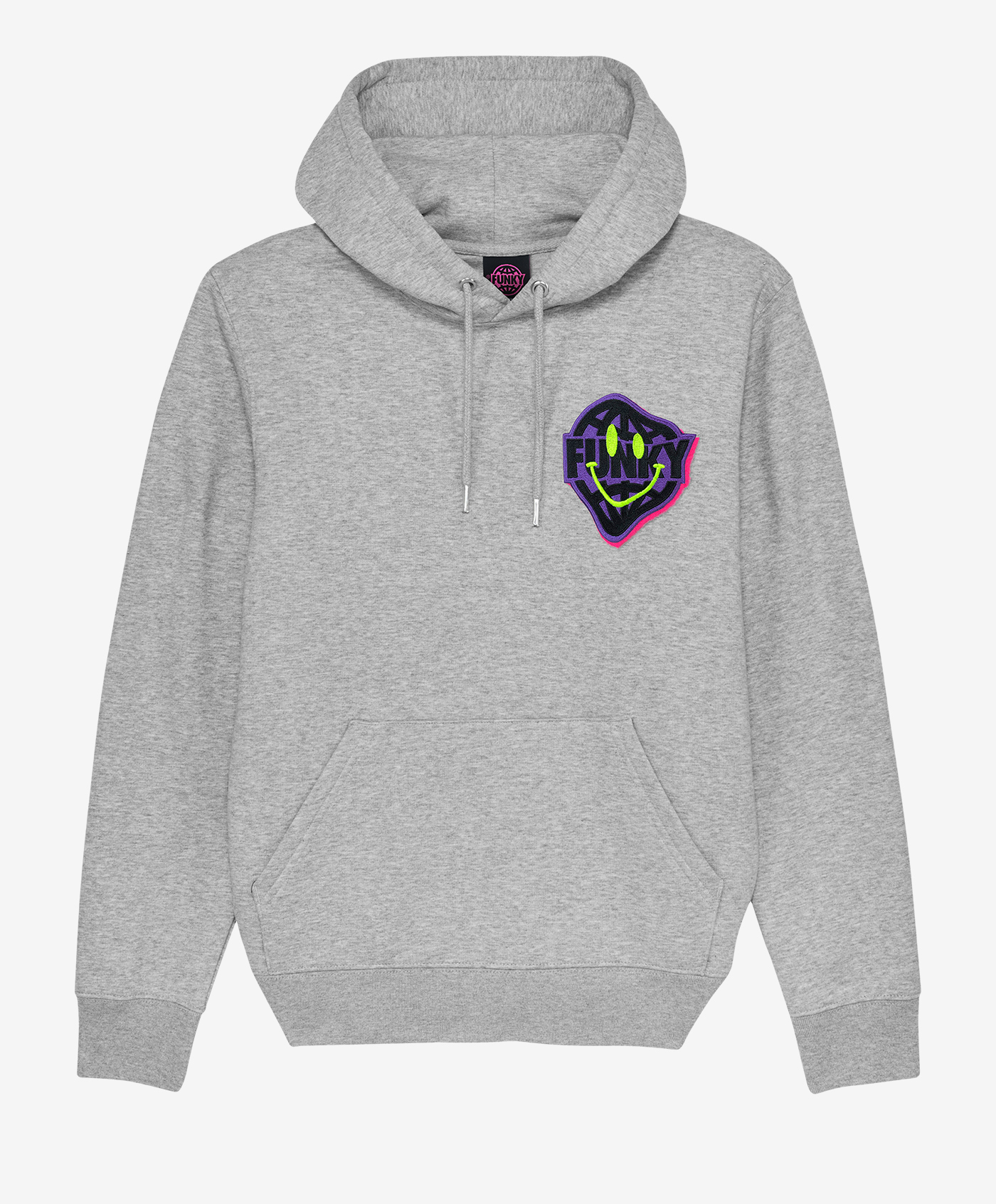 funky smile patch hoodie hype
