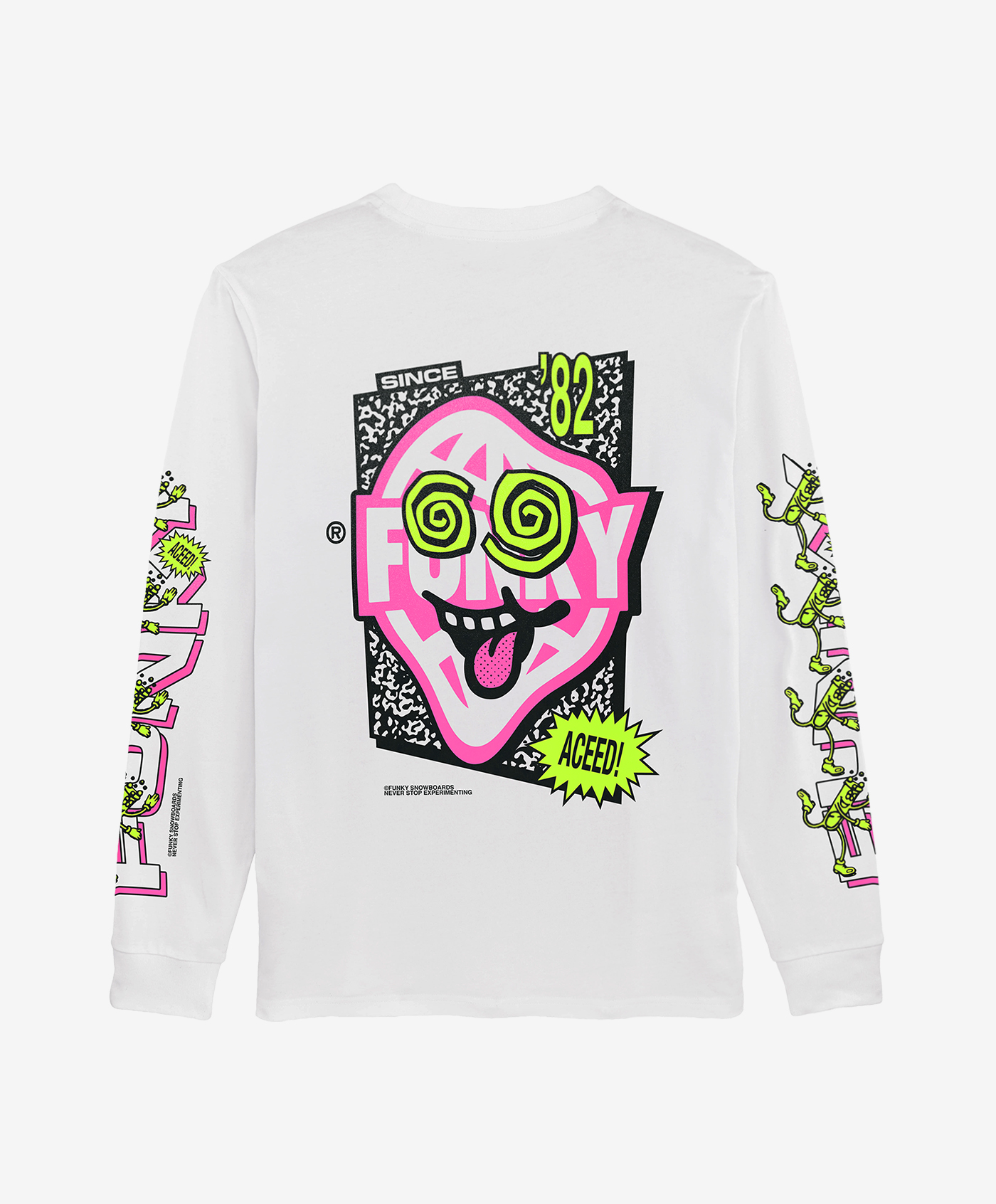 funky aceed long sleeve white back