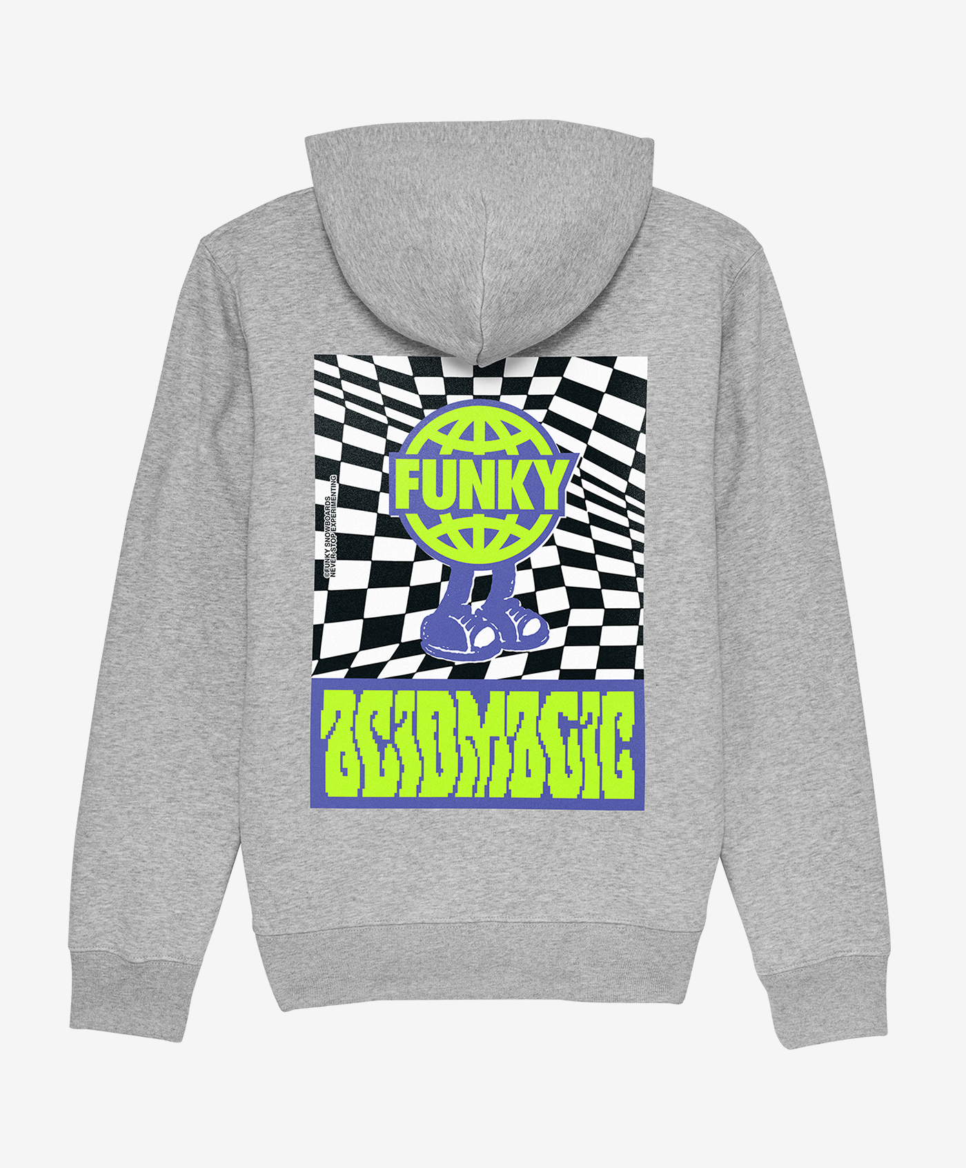 funky acidmagic hoodie grey back