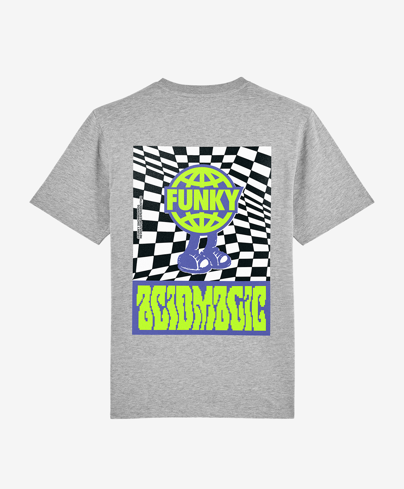funky acidmagic tee grey