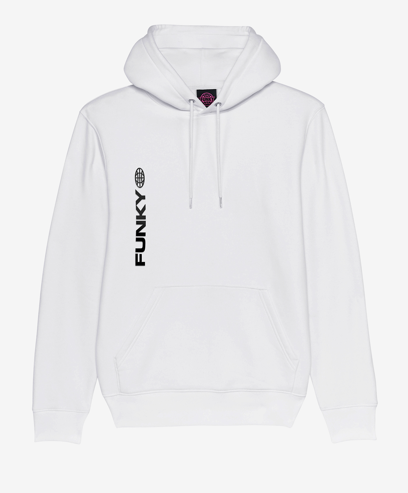 funky meltdown hoodie white front