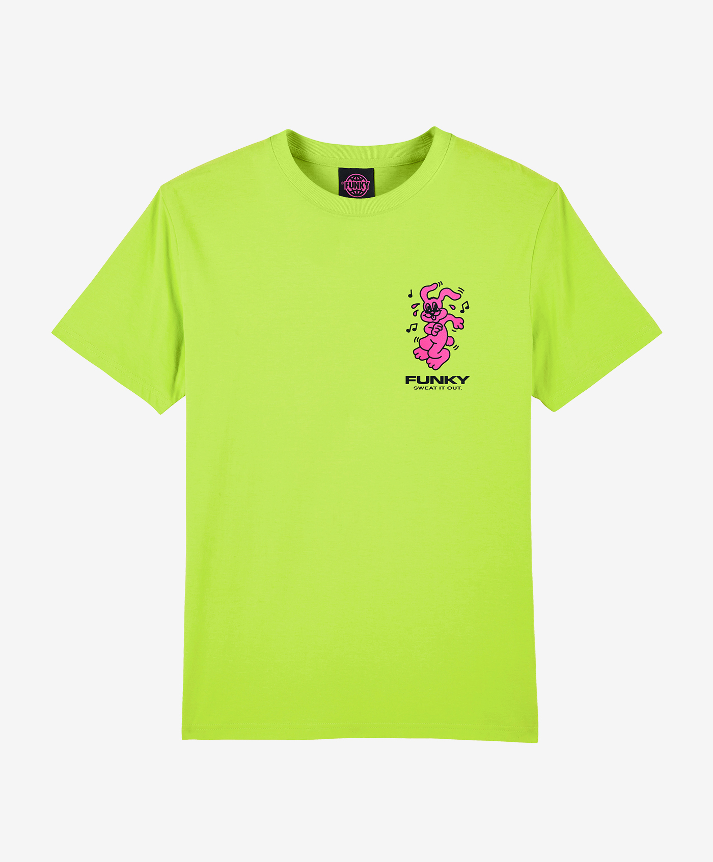 funky molly tee lime