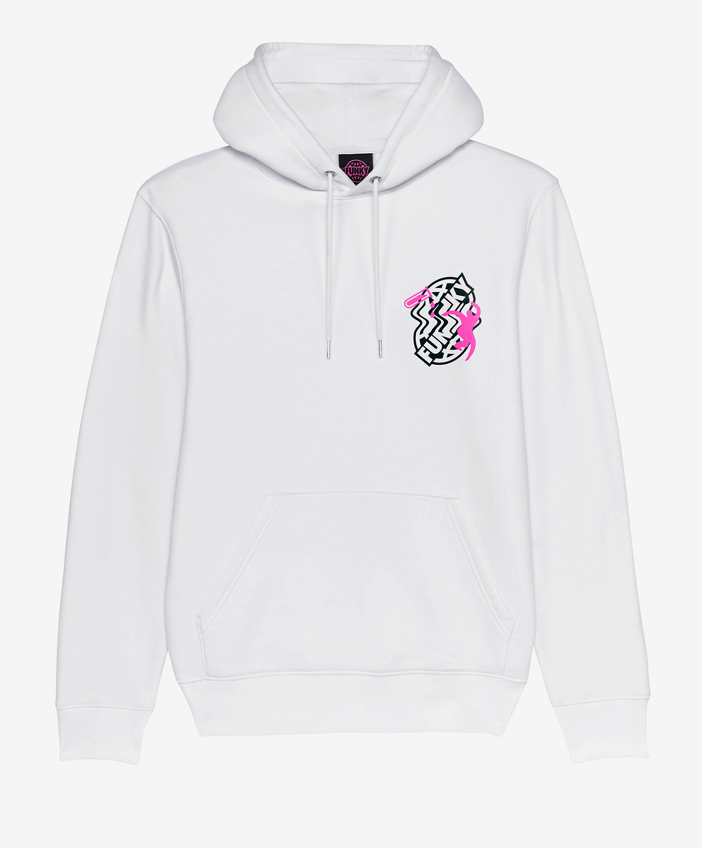 funky primal hoodie white front