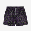 Funky leopard swim short purple with printed fabric, upper fabric 100% nylon, Inner lining 100% polyester, available in sizes S,M,L,XL, discover it on our website!