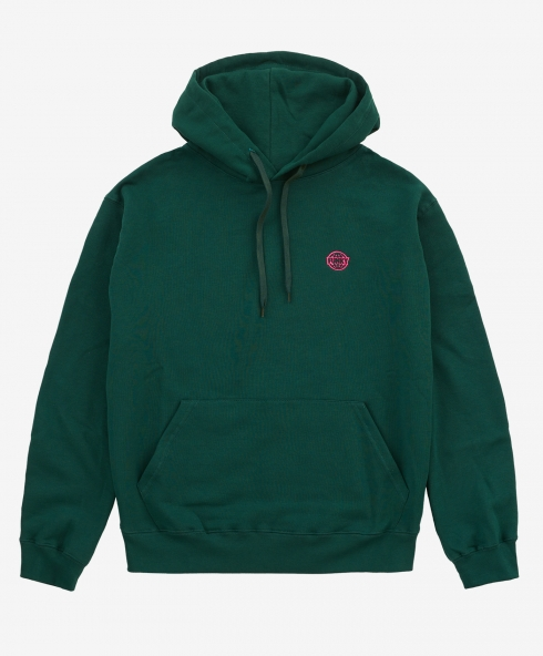 Funky basic embroidered hoodie petrol, embroidered logo, 100% spun and combed organic cotton 220 gsm, available in sizes S,M,L,XL,XXL discover it on our website!