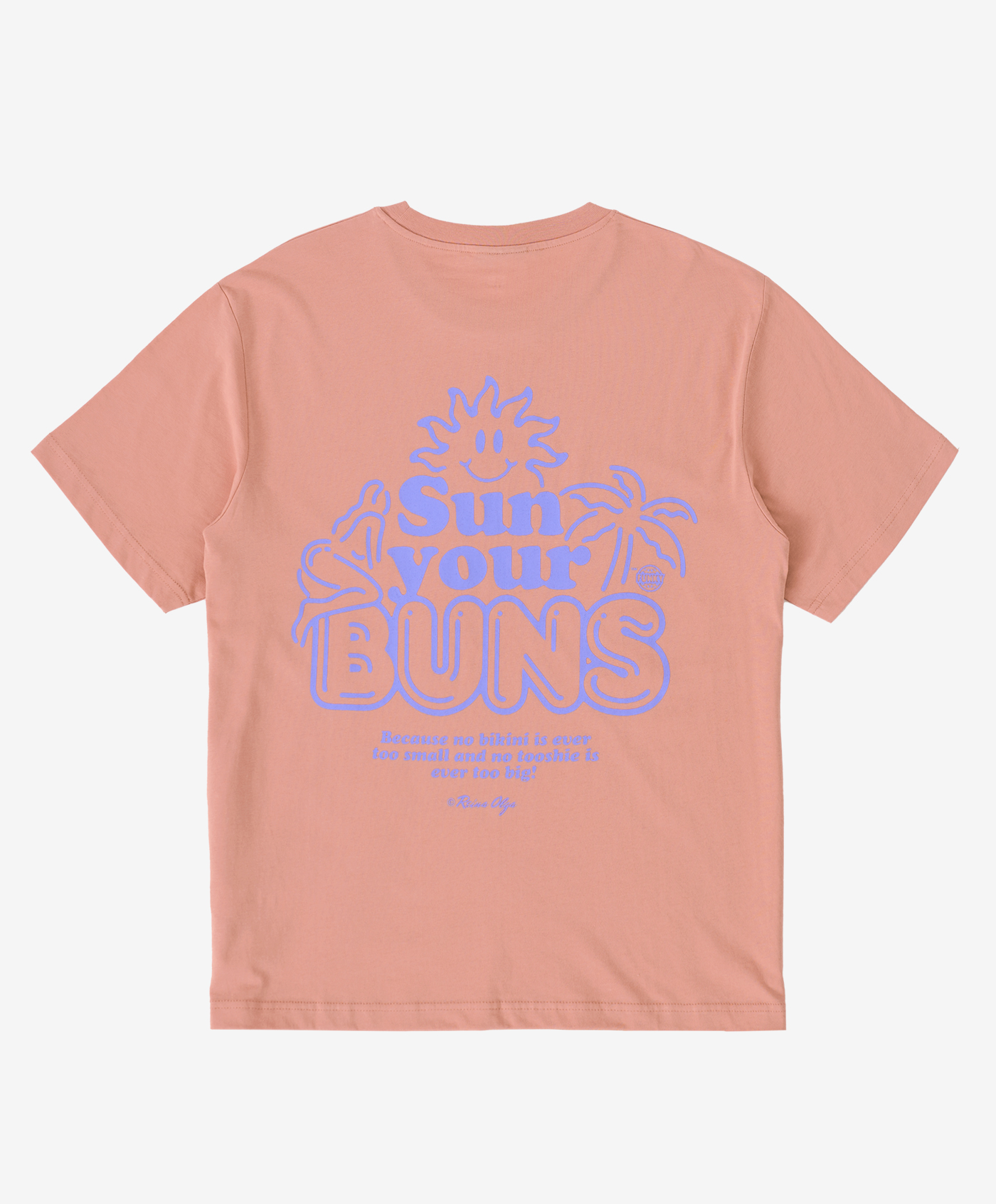 Funky buns tee coral