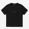 Funky palm tee black, embroidery with sponge stitch, Plain jersey 100% spun and combed organic cotton 180 gsm, available in sizes S,M,L,XL,XXL discover it on our website!