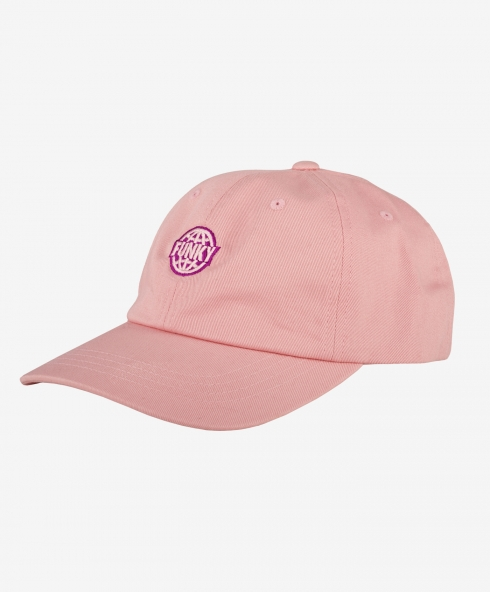 Funky dad cap pink 100% cotton twill, clasp closure discover it on our website!
